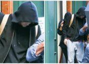 Taylor Swift 'khép nép' trốn sau lưng bạn trai mới