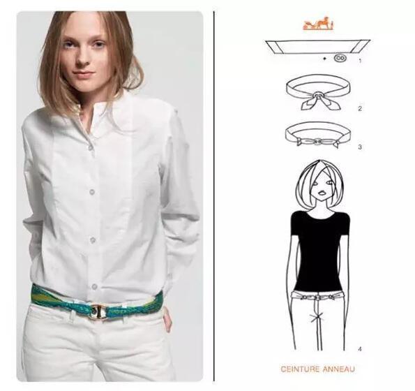 Chiếc khăn vuông yêu thích hoàn toàn có thể biến thành một dải dây lưng chắc chắn và tinh nghịch