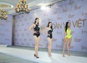 Hoàng Thùy, Mâu Thanh Thủy khoe dáng bikini tại Hoa hậu Hoàn vũ Việt Nam