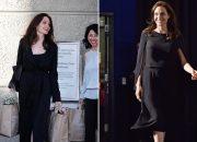 Chìa khoá phong cách của Angelina Jolie chính là những đôi giầy màu nude thanh lịch