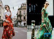 9 cách kết hợp váy liền hoa lạ mắt dành riêng cho mùa thu