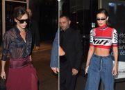 Bella Hadid mặc chiếc quần khó hiểu, Victoria Beckham diện đồ xuyên thấu